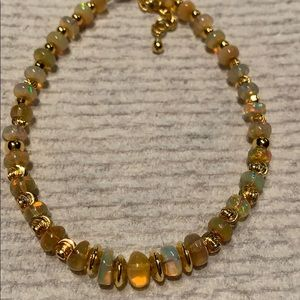 Real opal and gold plated beads and clasp